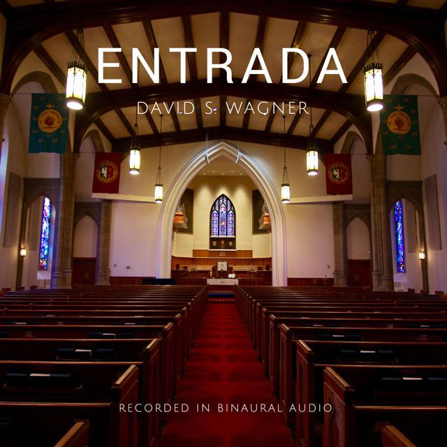 CD Album Cover showing a large stone church filled with pews.